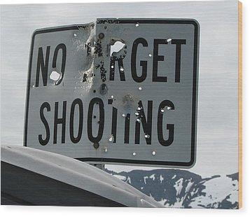 Target Shooting  Wood Print