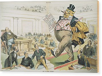 Tariff Lobbyist, 1897 Wood Print by Granger