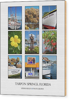 Tarpon Springs Poster Wood Print by Stephanie Hayes