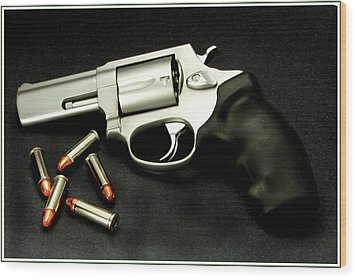 Tarus .38 Special Wood Print by Ron Roberts