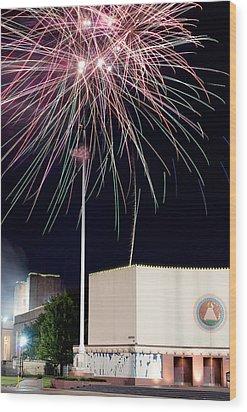 Taste Of Dallas 2015 Fireworks Wood Print