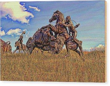 Tatanka Wood Print by Dave Luebbert