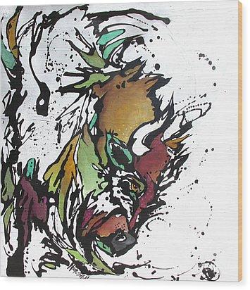 Tatonka Tt Wood Print by Nicole Gaitan