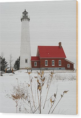 Tawas Point Lighthouse Wood Print by Michael Peychich