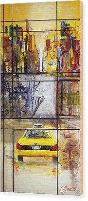 Taxi 7 Wood Print