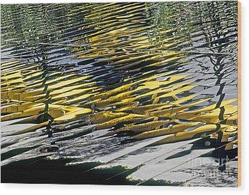 Taxi Abstract Wood Print by Tony Cordoza