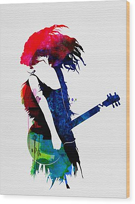 Taylor Watercolor Wood Print