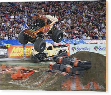 Taz Takes Flight Wood Print