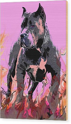 Wood Print featuring the painting Tbone by Tbone Oliver