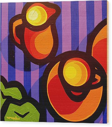 Tea And Apples Wood Print by John  Nolan
