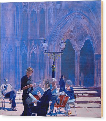 Tea At York Minster Wood Print by Neil McBride