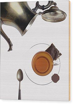 Tea For One Wood Print by Steven Huszar