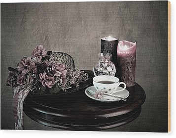 Wood Print featuring the photograph Tea Party Time by Sherry Hallemeier