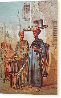 Wood Print featuring the photograph Tea Seller by Munir Alawi