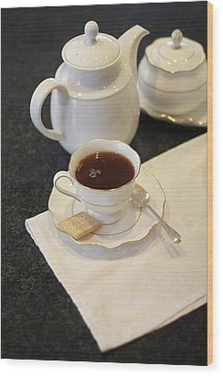 Tea Service Wood Print by Mark Platt