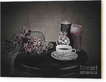 Tea Time 2nd Rendition Wood Print
