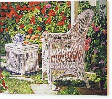 Tea Time Wood Print by David Lloyd Glover