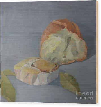 Tea Time Wood Print by Genevieve Brown