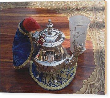 Tea Time Wood Print by Valia Bradshaw