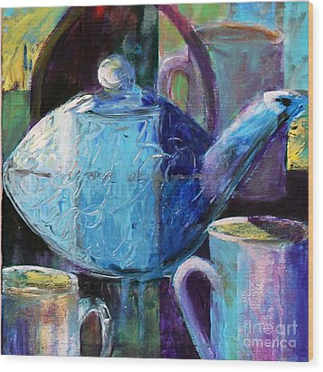 Wood Print featuring the photograph Tea With Friends by Priti Lathia
