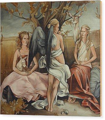 Teaching Mysticism Wood Print by Jacque Hudson