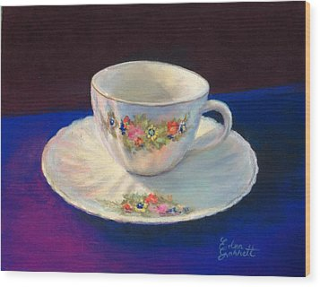 Teacup Wood Print