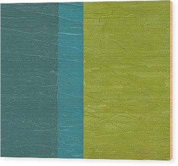 Teal And Olive  Wood Print by Michelle Calkins