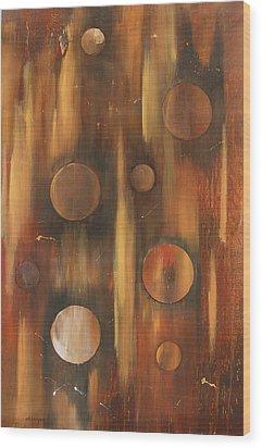 Tear Drops Wood Print by Miroslaw  Chelchowski