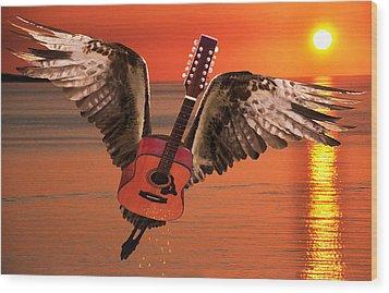 Teardrops On My Guitar Rocks Wood Print by Eric Kempson