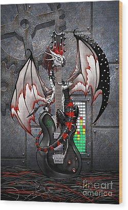 Tech-n-dustrial Music Dragon Wood Print