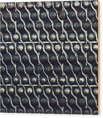 Tech Texture Wood Print by Joseph Skompski