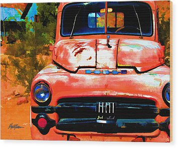 Techatticup Mine Ghost Town Nv Wood Print by Marti Green