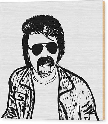 Ted - The Strange Man Wood Print by Karl Addison