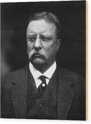 Teddy Roosevelt Wood Print by War Is Hell Store
