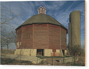 Teeple Barn, Built Circa 1885 By Dairy Wood Print by Ira Block