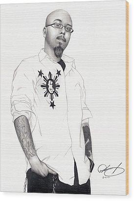 Teflon Don Wood Print by Pete Tapang