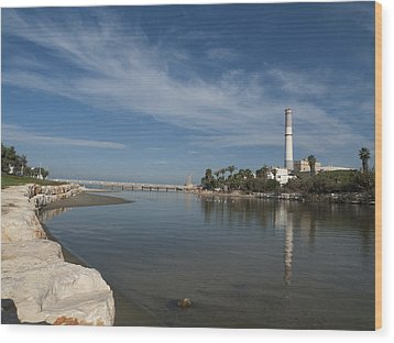 Wood Print featuring the photograph Tel Aviv Old Port 1 by Dubi Roman