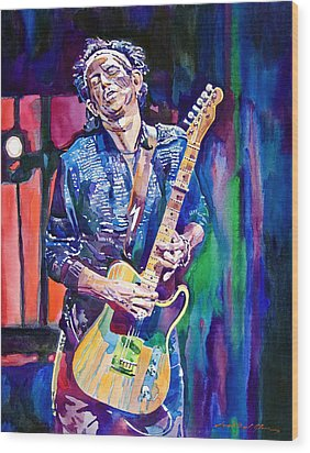Telecaster- Keith Richards Wood Print by David Lloyd Glover