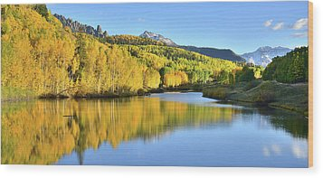 Wood Print featuring the photograph Telluride Mountain Lake by Ray Mathis