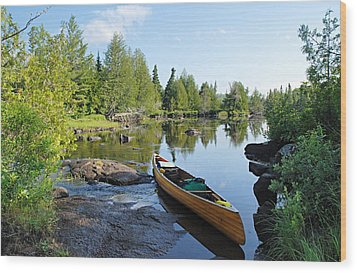 Temperance River Portage Wood Print by Larry Ricker