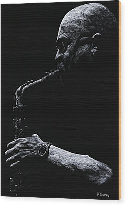 Temperate Sax Wood Print by Richard Young