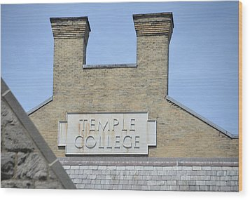 Temple College Wood Print by Bill Cannon