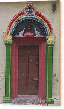 Temple Door Wood Print by Deepak Pawar