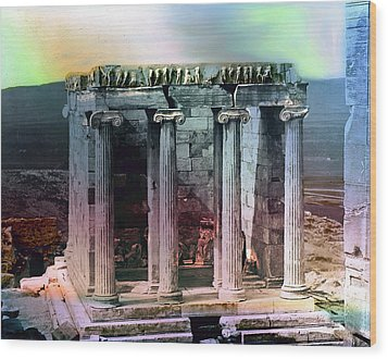 Wood Print featuring the photograph Temple Of Athena by Robert G Kernodle