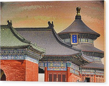 Temple Of Heaven Wood Print by Dennis Cox ChinaStock