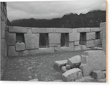Wood Print featuring the photograph Temple Of The Three Windows by Aidan Moran