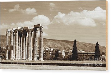 Temple Of Zeus Wood Print by John Rizzuto