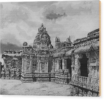 Temple Ruins Wood Print by Paul Illian