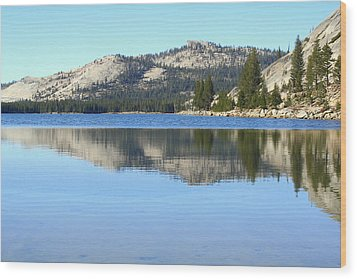 Wood Print featuring the photograph Tenaya Lake Reflections by Lynn Bawden