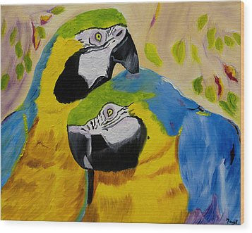 Tender Birdsong  Wood Print